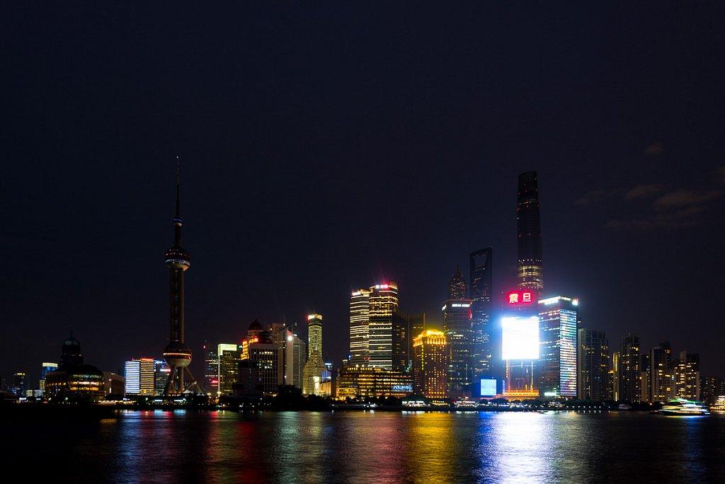Shanghai, skyline seen from the Bund