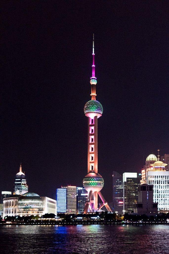 Shanghai, TV-Tower seen from the Bund