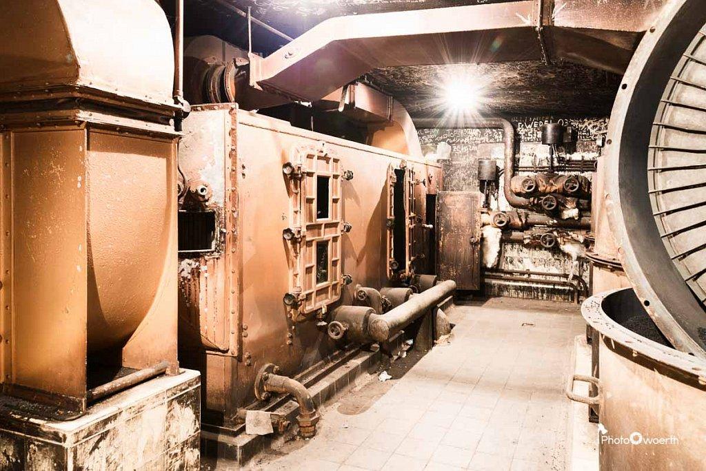 Bunker Heizanlage im Bereich des ausgebrannten Filmlagers